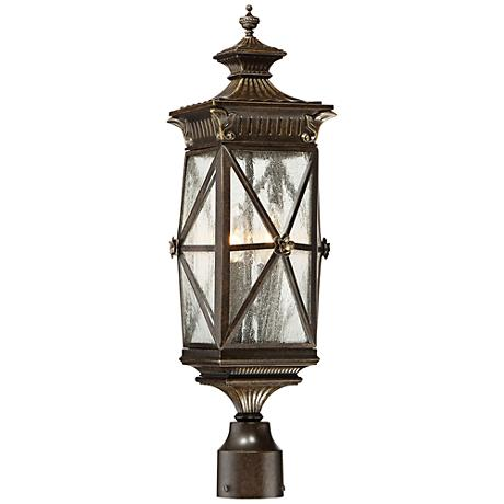 "Rue Vielle 23 1/2"" High Forged Bronze Outdoor Post Light"