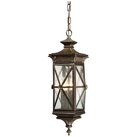 """Rue Vielle 22"""" High Forged Bronze Hanging Outdoor Light"""