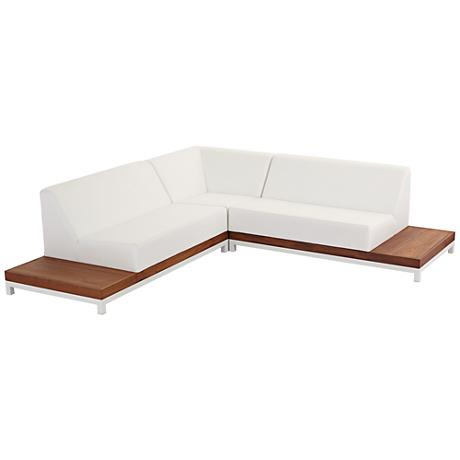 Palm Beach White 3-Piece Sectional