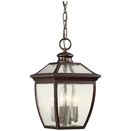 "Sunnybrook 14 3/4"" High Alder Bronze Hanging Outdoor Light"
