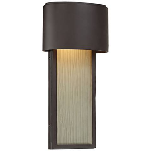 "Everton Rain LED 14 1/2"" High Bronze Outdoor Wall Light"