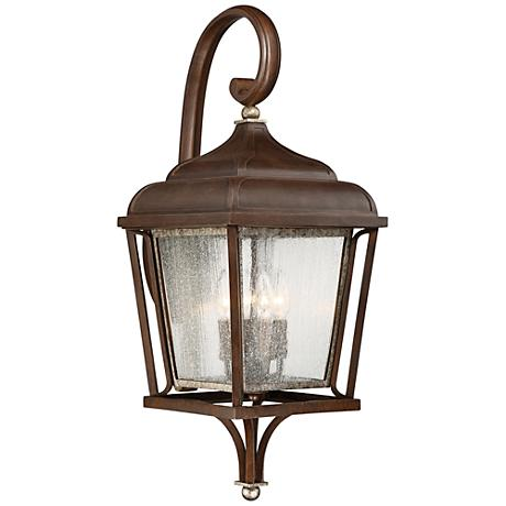 """Astrapia II 28 1/4"""" High Rubbed Sienna Outdoor Wall Light"""