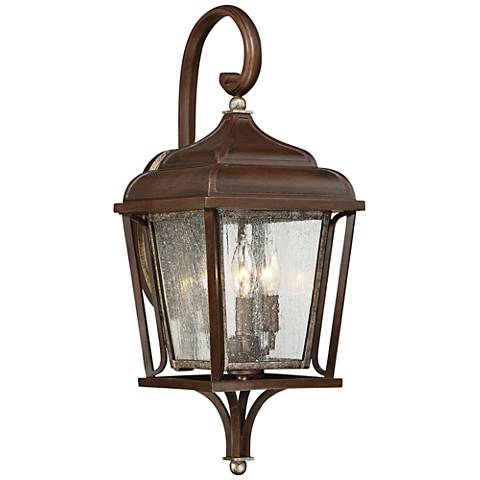 """Astrapia II 23 1/4"""" High Rubbed Sienna Outdoor Wall Light"""