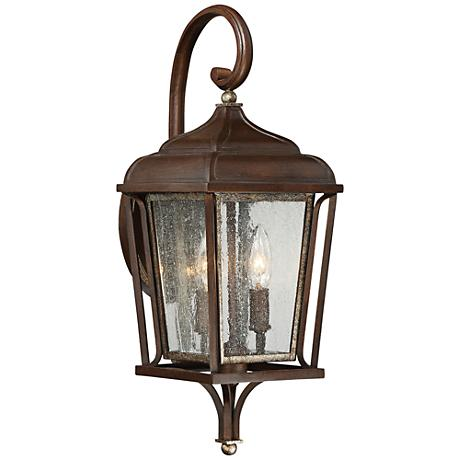"""Astrapia II 19 3/4"""" High Rubbed Sienna Outdoor Wall Light"""