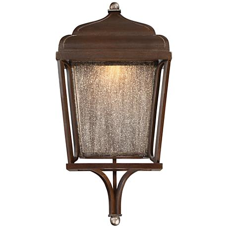 """Astrapia II LED 19""""H Rubbed Sienna Outdoor Wall Light"""