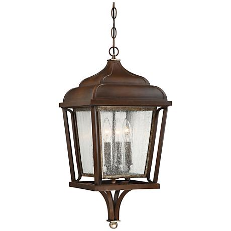 "Astrapia II 24"" High Rubbed Sienna Hanging Outdoor Light"