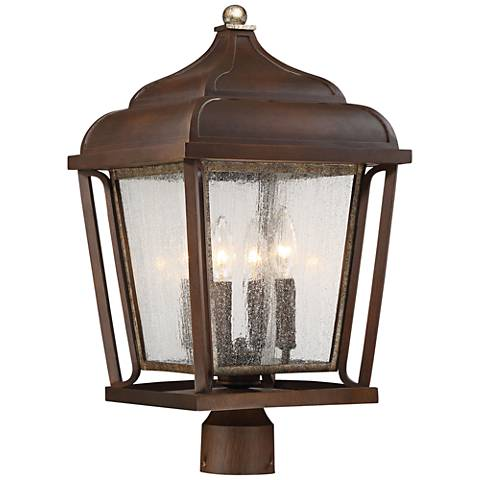 """Astrapia II 21"""" High Rubbed Sienna Outdoor Post Light"""