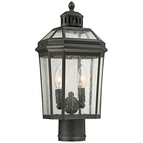 "Hawks Point 17"" High Oiled Bronze Outdoor Post Light"