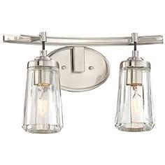 Bathroom Lighting Fixtures Brushed Nickel brushed steel bathroom lighting | lamps plus