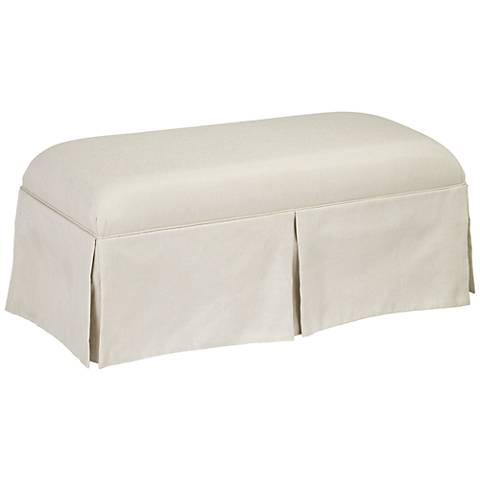 Donnell Groupie Oyster Skirted Bench