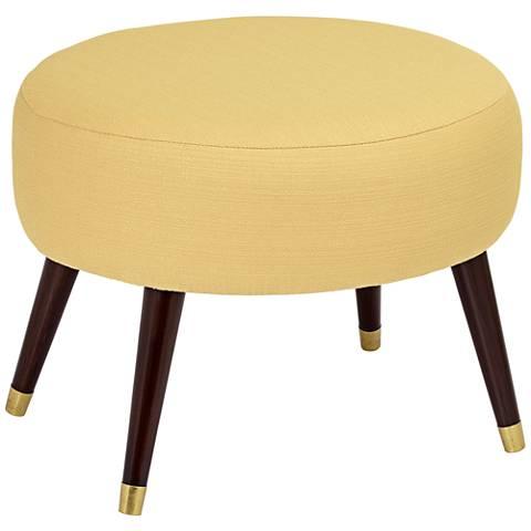 Syble Klein Mustard Oval Ottoman