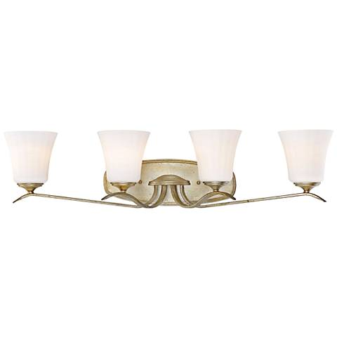 "Laurel Estate 4-Light 33 1/2"" Wide Brio Gold Bath Light"