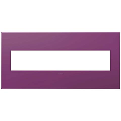 adorne® Plum 5-Gang Snap-On Wall Plate