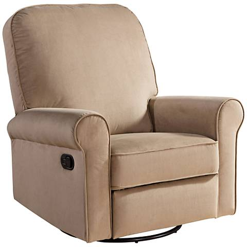 Perth Beige Fabric Swivel Glider Recliner Chair