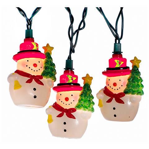 10-Light Holiday Snowman Indoor/Outdoor String Light Set