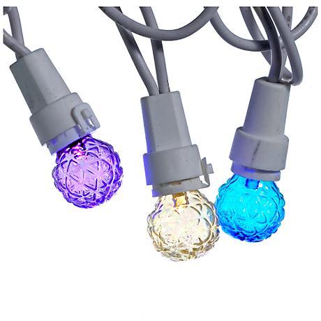 50-Light Multi-Colored Globe LED String Light Set