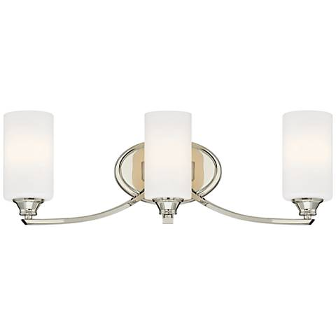 "Tilbury 24 1/4"" Wide Polished Nickel 3-Light Bath Light"