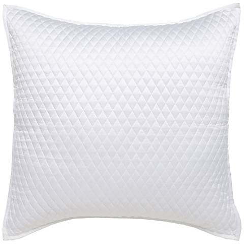 Diamond Stitched White Euro Pillow Sham