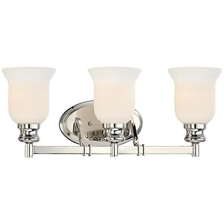 "Audrey's Point 22 1/4"" Wide Polished Nickel Bath Light"