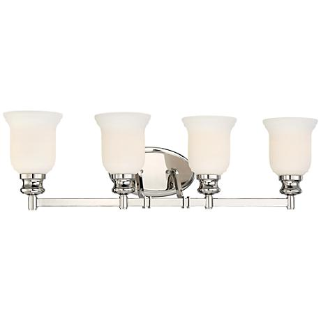"""Audrey's Point 30 3/4"""" Wide Polished Nickel Bath Light"""