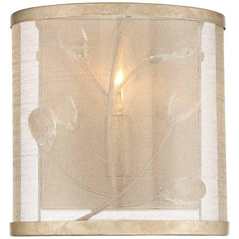 "Sara's Jewel 4"" High Champagne Silver Wall Sconce"