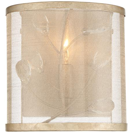 """Sara's Jewel 4"""" High Champagne Silver Wall Sconce"""