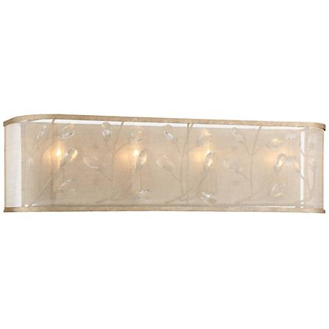 "Sara's Jewel 27 3/4"" Wide Champagne Silver Bath Light"