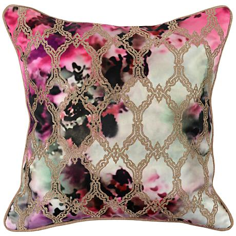 """Gina Graphic Printed 18"""" Square Throw Pillow"""