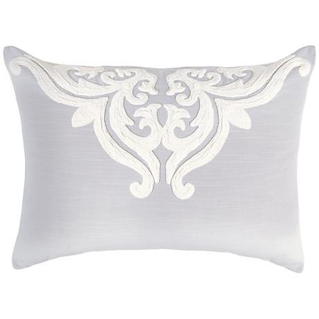 Patrina Fog Hand-Embroidered Cotton Standard Pillow Sham