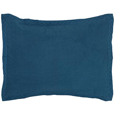 Resort Marine Blue Printed Standard Pillow Sham