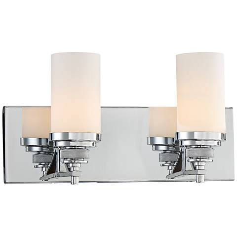 "Brushcreek 2-Light 16"" Wide Polished Chrome Bath Light"