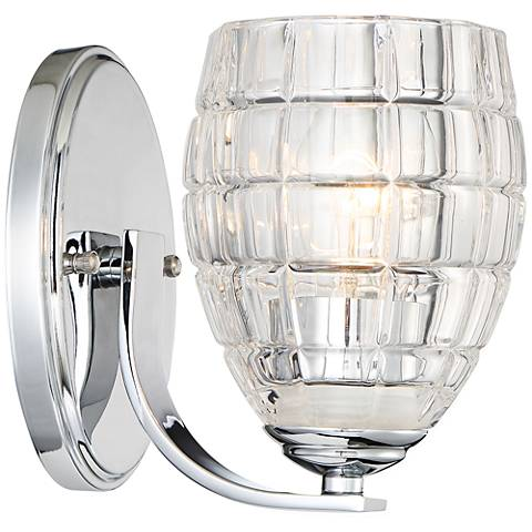 "Austine 7 1/2"" High Chrome and Clear Glass Wall Sconce"