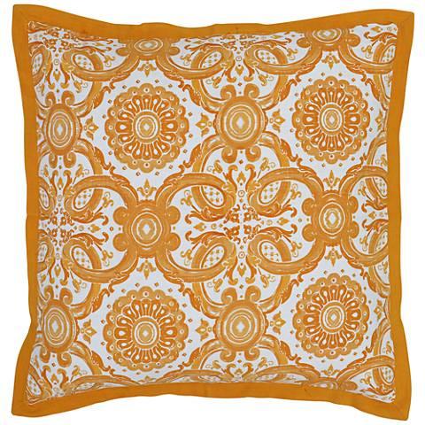 Resort Mango Yellow Printed Euro Pillow Sham