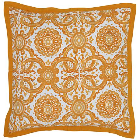 Resort Mango Yellow Printed Euro Pillow Sham