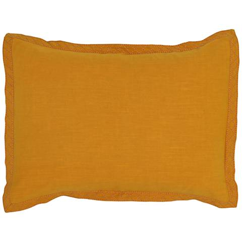 Resort Mango Yellow Printed Standard Pillow Sham
