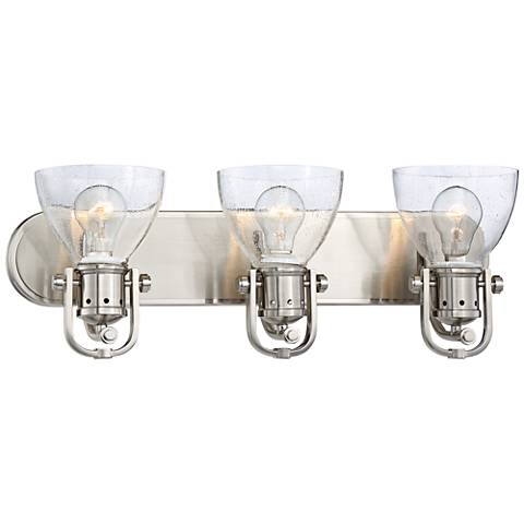 "Bath Art 24"" Wide Brushed Nickel 3-Light Bath Light"