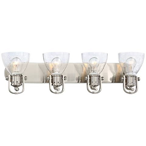 "Bath Art 4-Light 31 1/2"" Wide Brushed Nickel Bath Light"