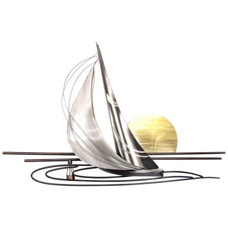 Metal Wall Art Lamps Plus : Sunset Sail 45
