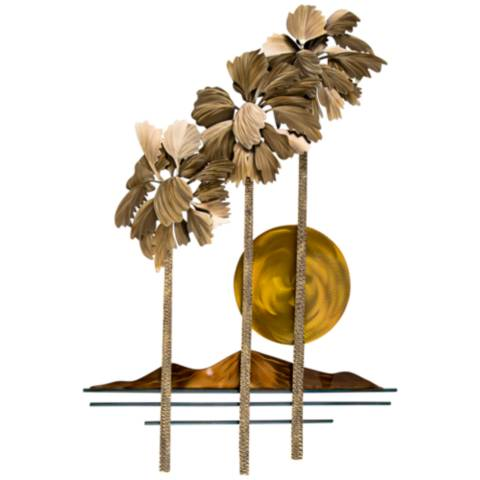 Metal Wall Art Lamps Plus : Desert Palms 47