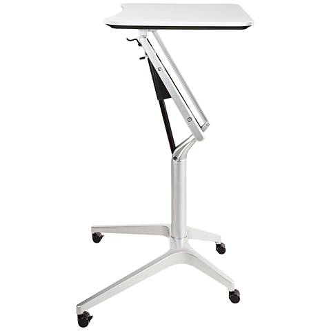 201 White Workpad Stand Up Height Adjustable Laptop Desk
