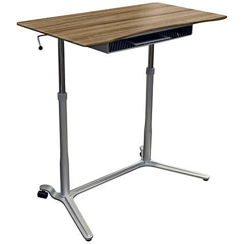 Unique 204 Walnut Height Adjustable Sit Stand Desk