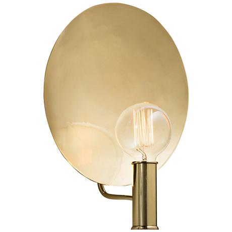 "Arteriors Home Lorita 15"" High Polished Brass Wall Sconce"