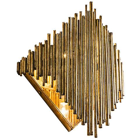 "Arteriors Home Prescott 16 1/2"" High Gold Leaf Wall Sconce"