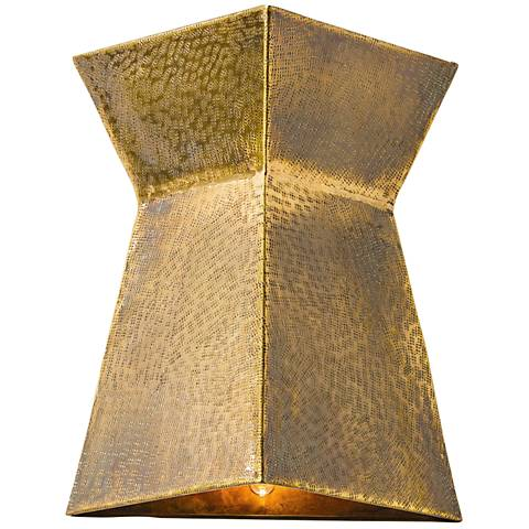 "Arteriors Home Grant 12"" High Vintage Brass Wall Sconce"