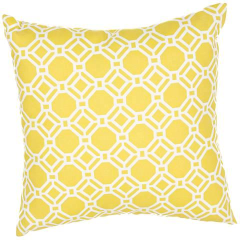 """Jaipur Veranda Trellis Yellow 20"""" Wide Indoor-Outdoor Pillow"""