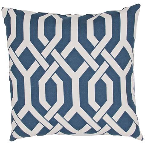 """Jaipur Veranda Link Blue 20"""" Square Indoor-Outdoor Pillow"""