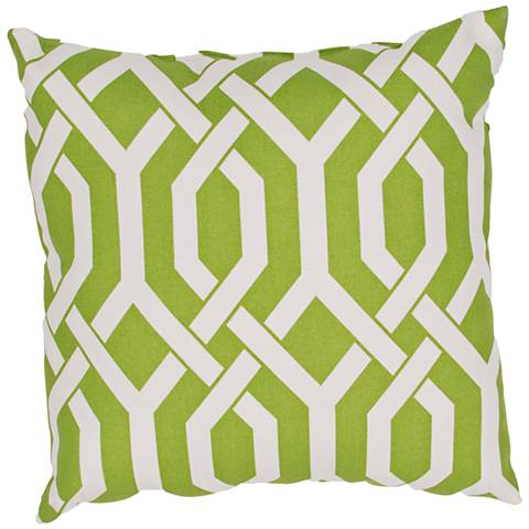 "Jaipur Veranda Link Green 20"" Square Throw Pillow"