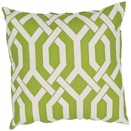 "Jaipur Veranda Link Green 20"" Square Throw Pillow"