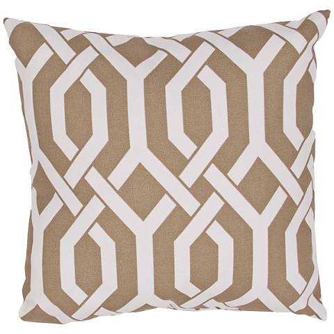 "Jaipur Veranda Link Brown 20"" Square Indoor-Outdoor Pillow"