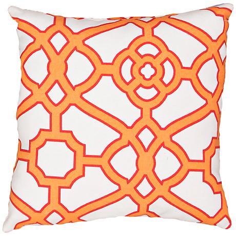 """Jaipur Veranda Gate Orange 18"""" Square Throw Pillow"""